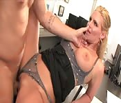 Naughty cheating blonde MILF