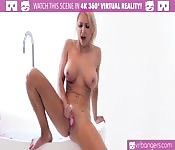 Sexy blonde bathtime