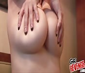 Sensual boobs massage