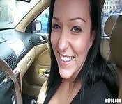 Paja en un coche en todo su esplendor