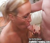 Old MILF sucks good