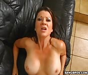 Fake tit MILF drilled