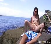 Amatorskie ruchanie na plaży