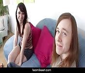 Une brunette amatrice baise son copain aux cheveux longs