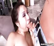 Asian ultra slut wants to ride on some hard cock