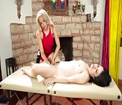 Sensual workout leads to erotic massage