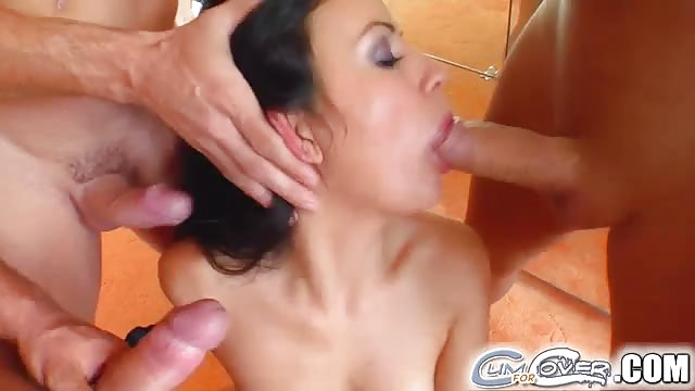 3 cocks in mouth